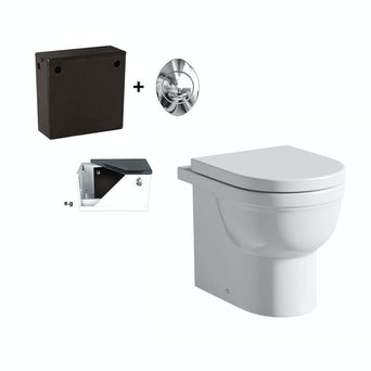 Deco Back To Wall Toilet Inc Seat and Concealed Cistern