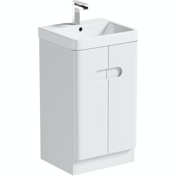 small vanity unit with sink. Mode Ellis White Compact Vanity Unit And Basin 450mm  VictoriaPlum Com