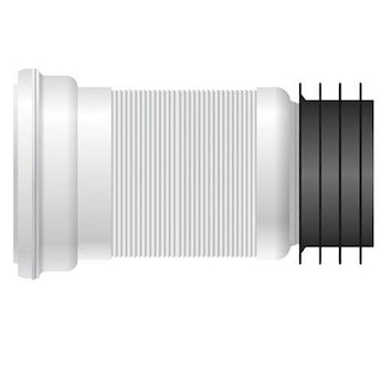 Universal flexible toilet pan waste connector