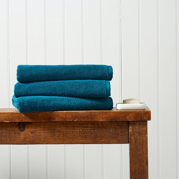 Christy Brixton peacock bath towel
