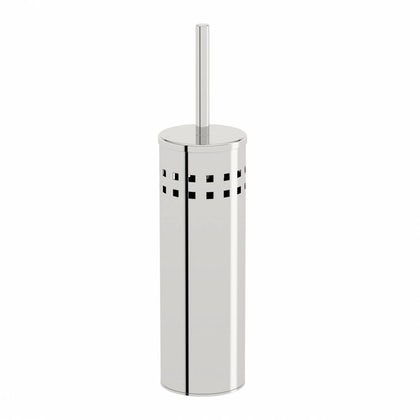 Options Round Freestanding Stainless Steel Toilet Brush Holder