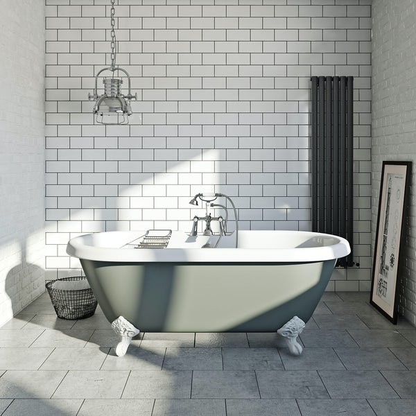 British Ceramic Tile Metro flat white gloss tile 100mm x 200mm