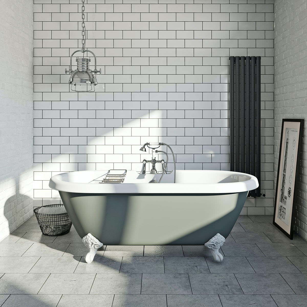 British Ceramic Tile Metropolis mid grey matt tile 331mm x 331mm