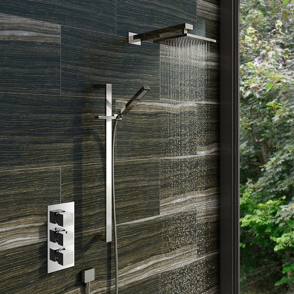 Mode Ellis storm complete bathroom suite with shower enclosure 1200 x 800