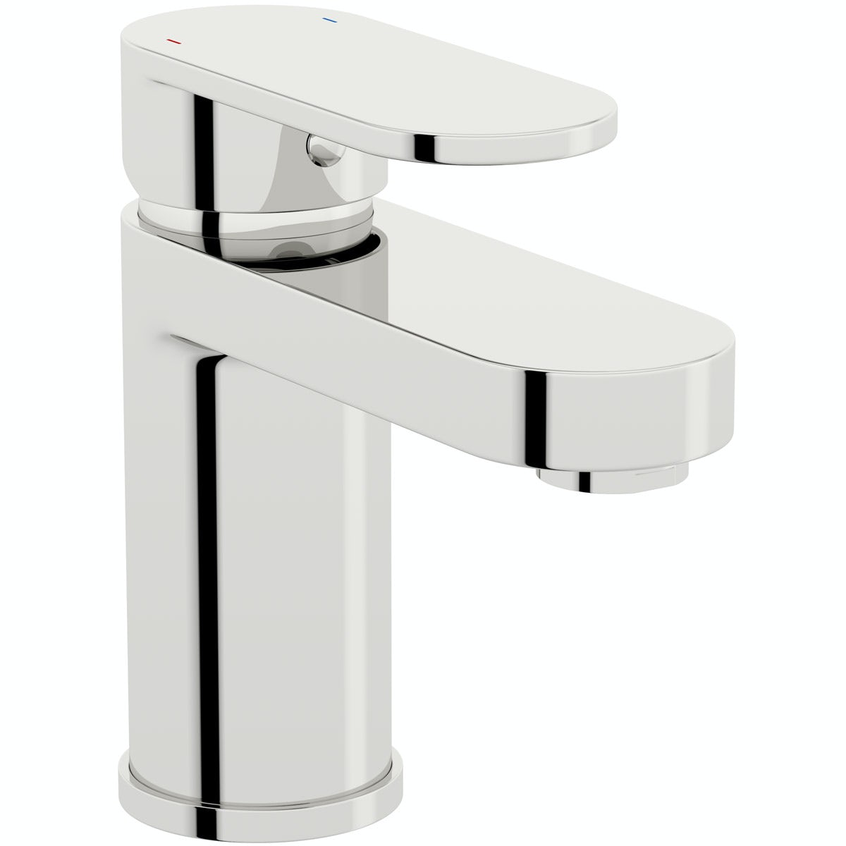 Kirke Curve basin mixer tap with click clack waste and cold start