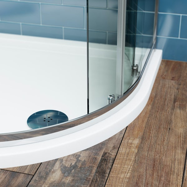 The Bath Co. Winchester traditional one door offset quadrant shower enclosure