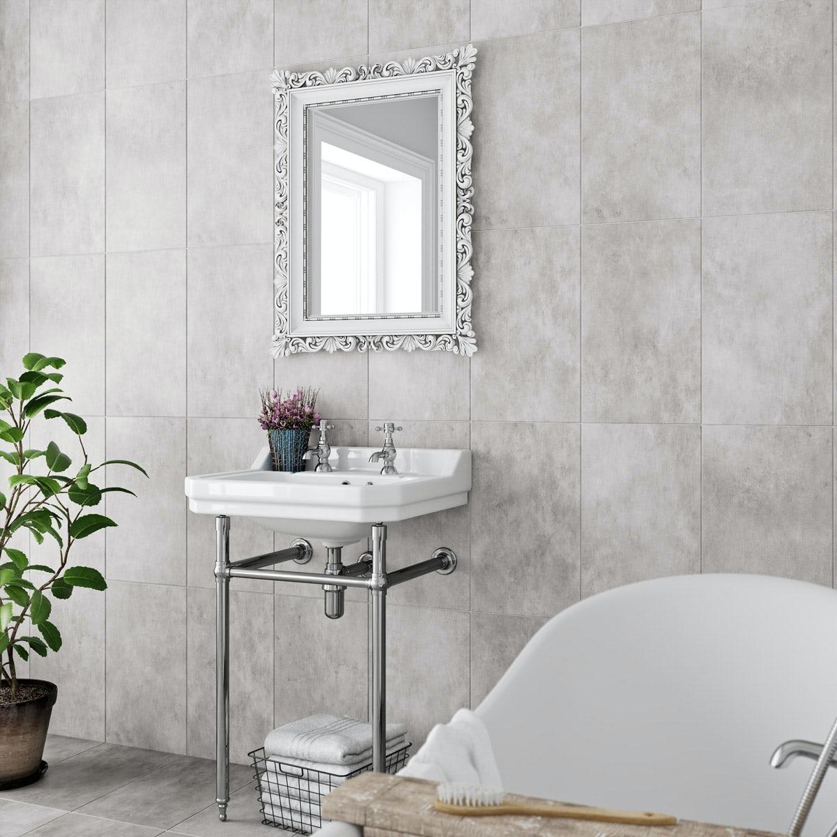 Laura Ashley Floor Tiles >> Laura Ashley Heritage plain dove grey wall floor tile