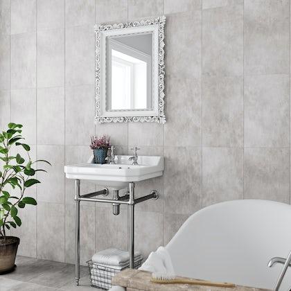 Laura Ashley plain dove grey wall & floor tile 298mm x 498mm