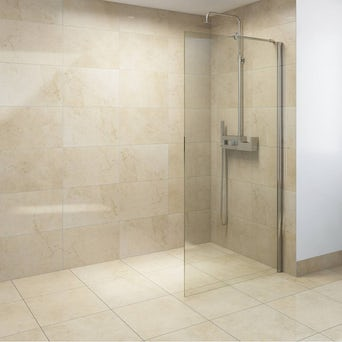 8mm Walk in Recess Shower Enclosure Pack 1600 X 900 with Shower Tray