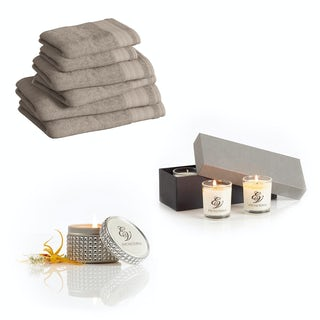 Supreme latte towel bale with diamante tin and gift box