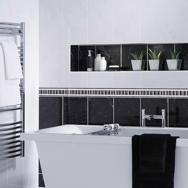 British Ceramic Tile Galaxy black gloss tile 248mm x 398mm