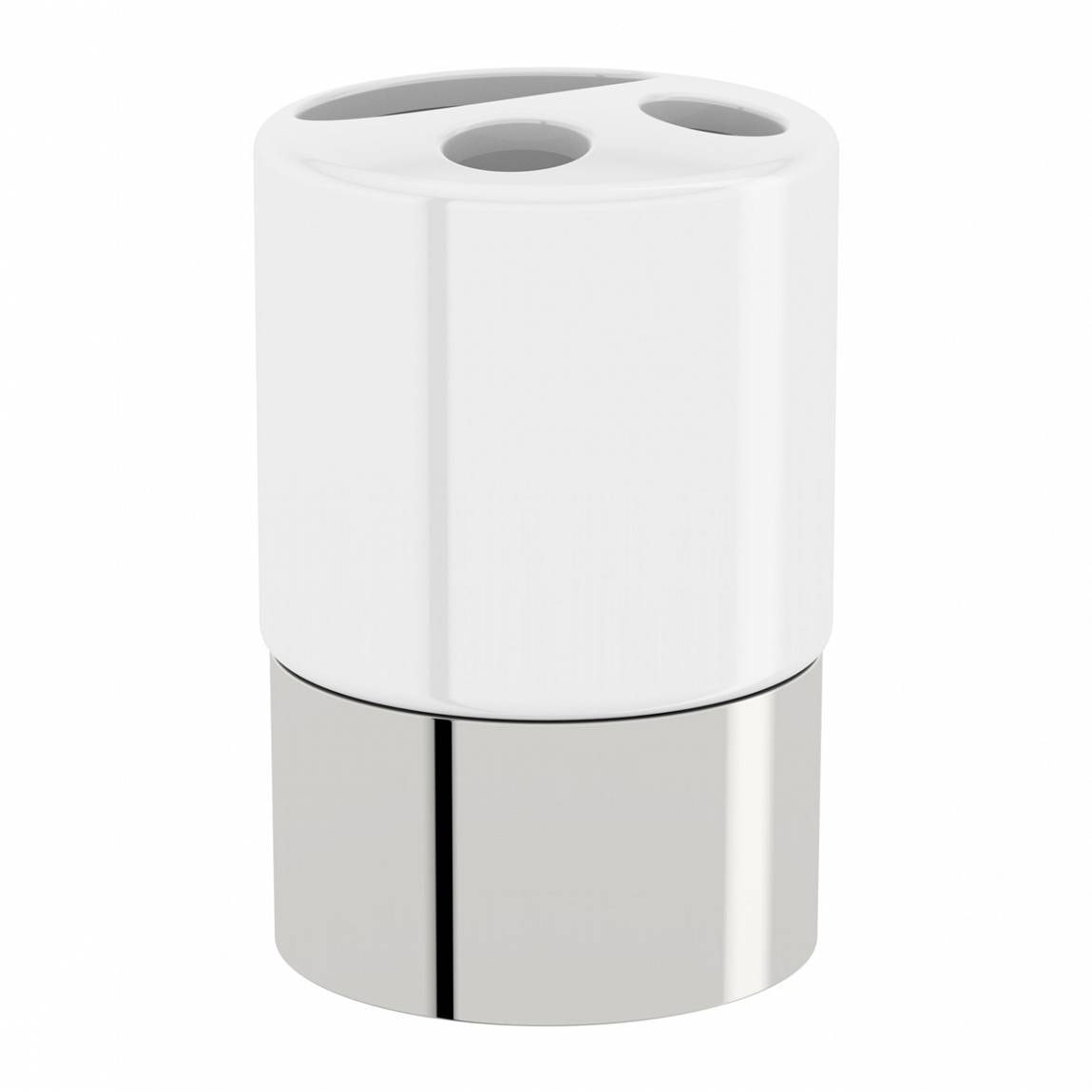 Options Freestanding Ceramic Toothbrush Holder