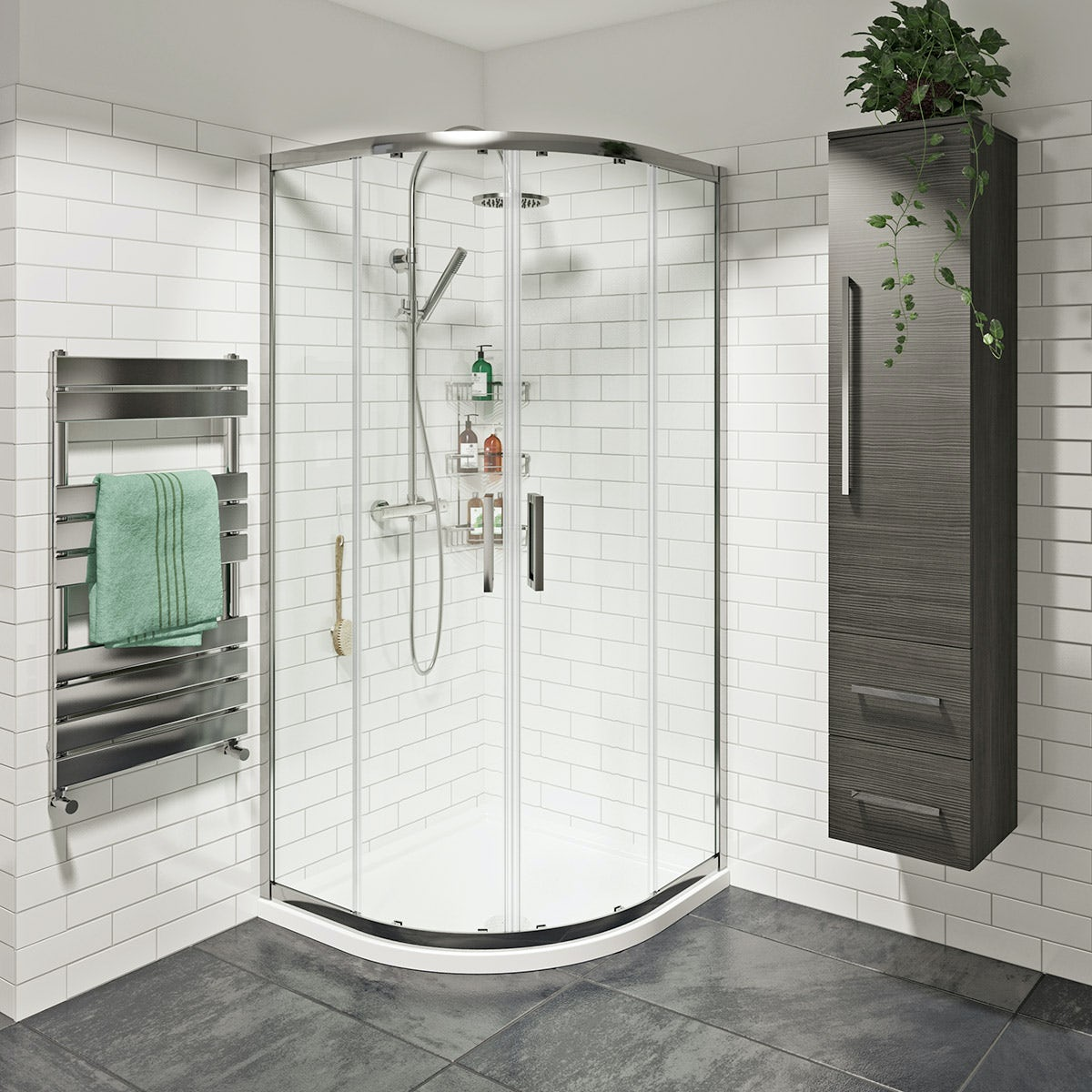 8mm Easy Clean Sliding Quadrant Shower Enclosure