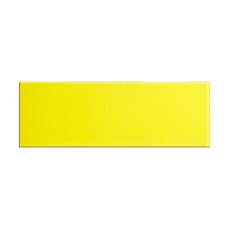 British Ceramic Tile glass canary yellow gloss tile 148mm x 448mm