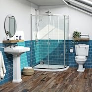 The Bath Co. Winchester traditional one door offset quadrant shower enclosure 900 x 760