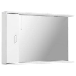 Sienna white bathroom mirror with lights 1200mm