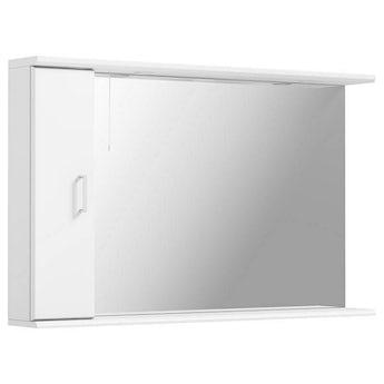 Sienna white bathroom mirror with lights 1200mm