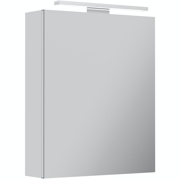 Neveah LED over and under lit mirror cabinet