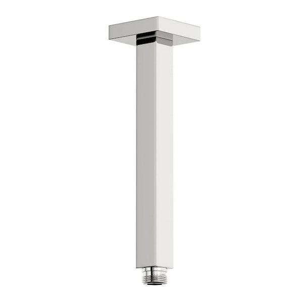 SmarTap black smart shower system with square slider rail and ceiling shower set