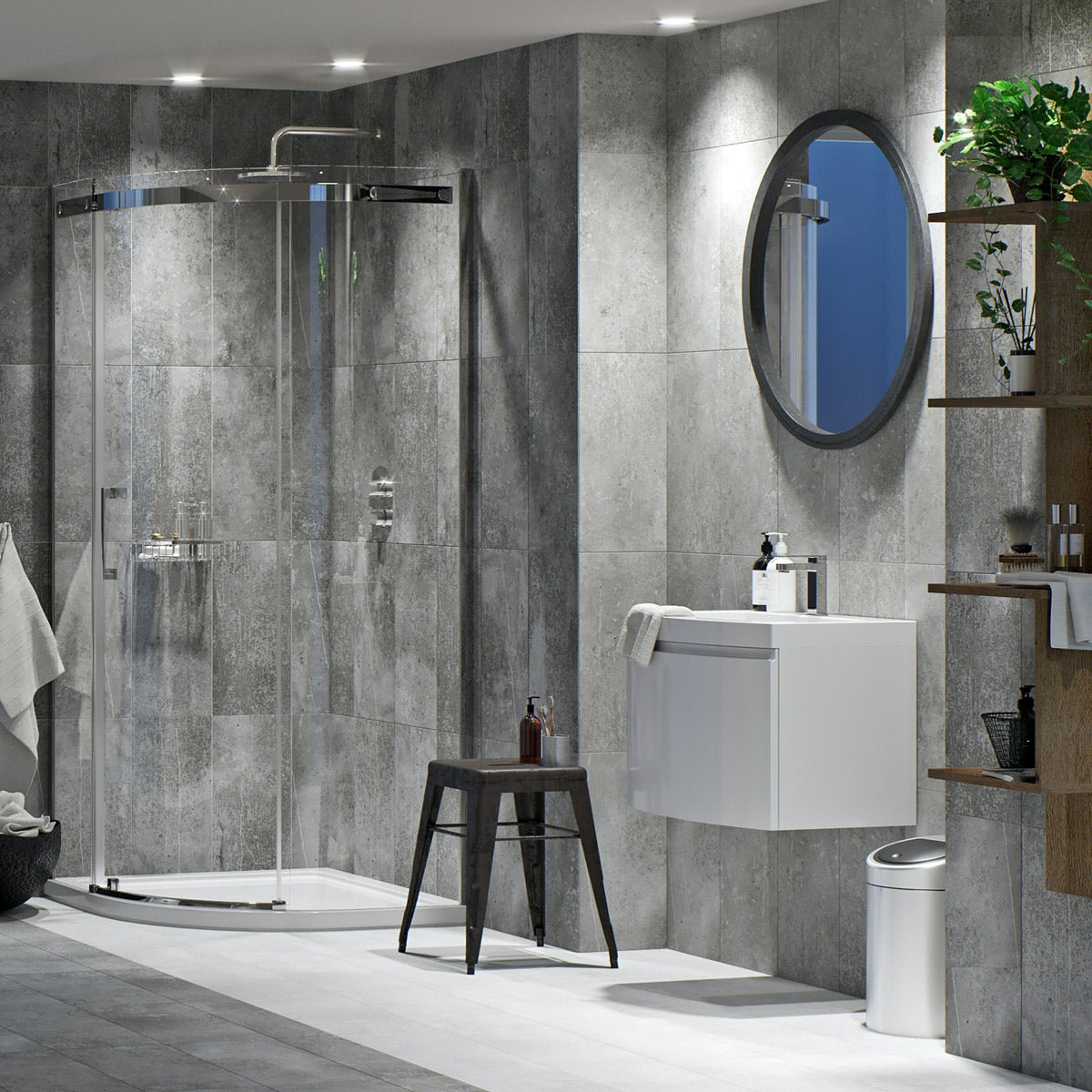 Mode Harrison complete wall hung suite with taps, shower and wastes