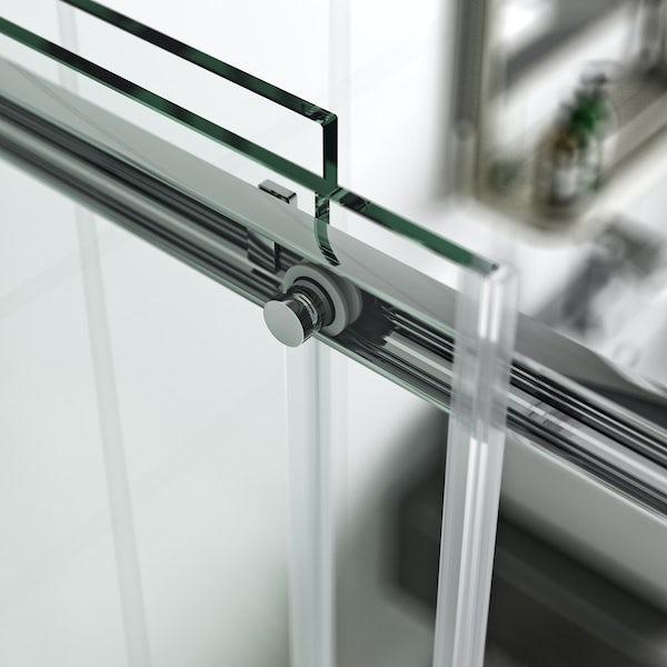 Elite 10mm frameless sliding door 1200mm