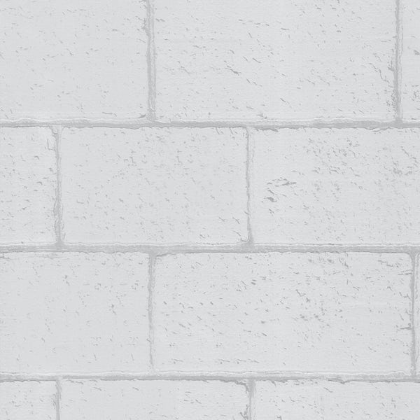 Graham & Brown Breezeblock white wallpaper