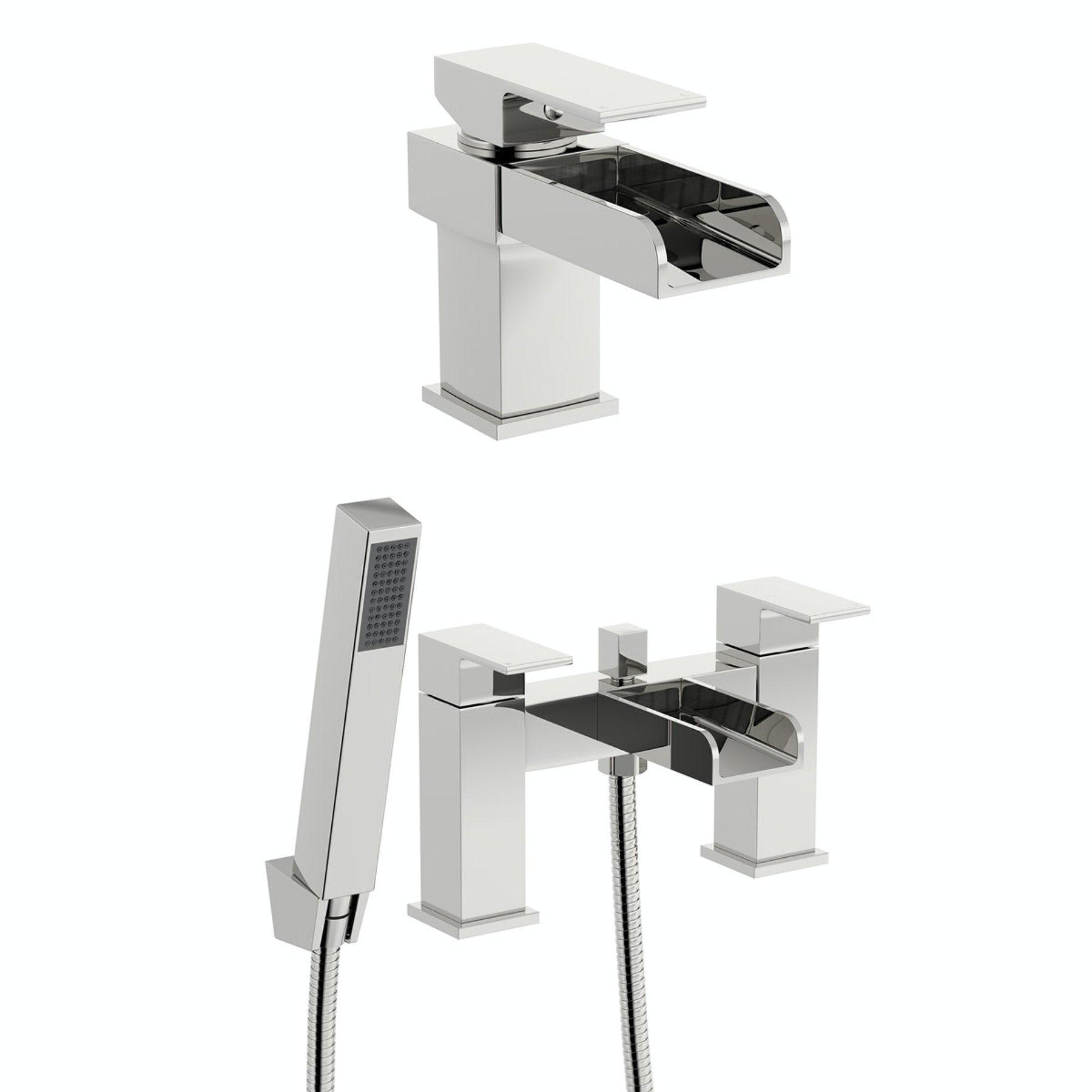Mode Carter basin and bath shower mixer tap pack