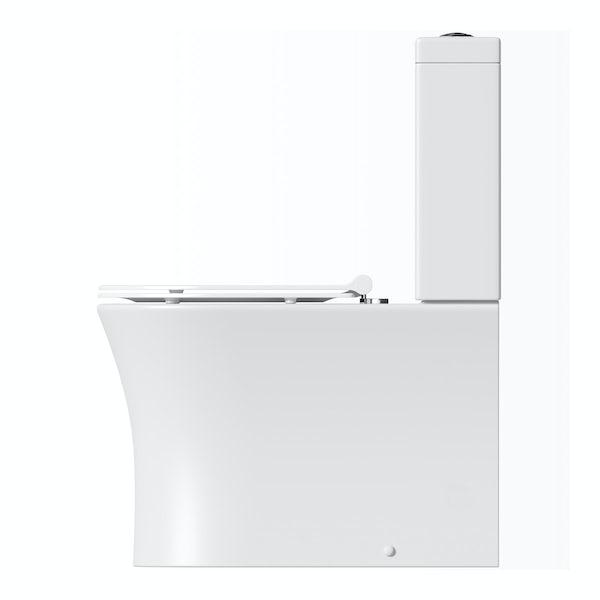 Mode Hardy close coupled toilet inc slimline soft close seat