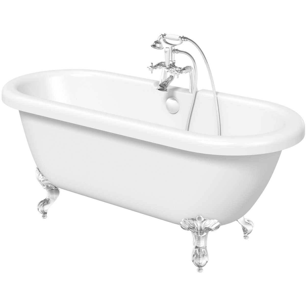 The Bath Co. Dulwich roll top bath with ball and claw feet 1500 x 720