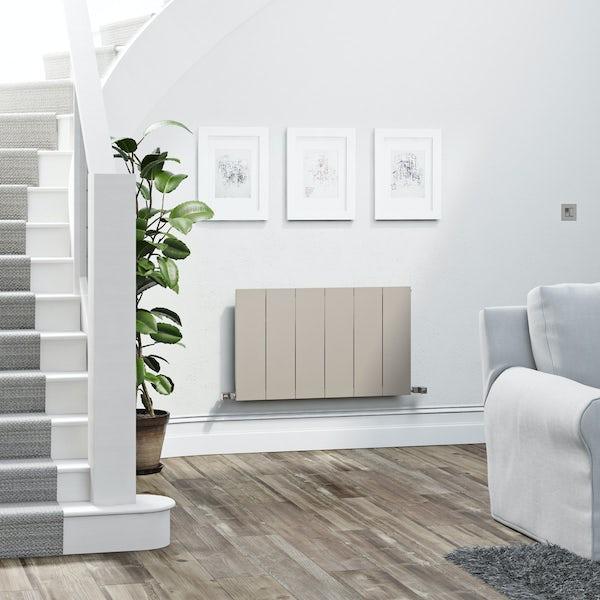 Terma Neo oyster grey horizontal radiator 545 x 900