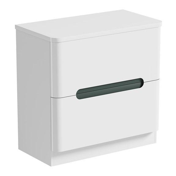 Mode Ellis select slate vanity drawer unit and countertop 800mm