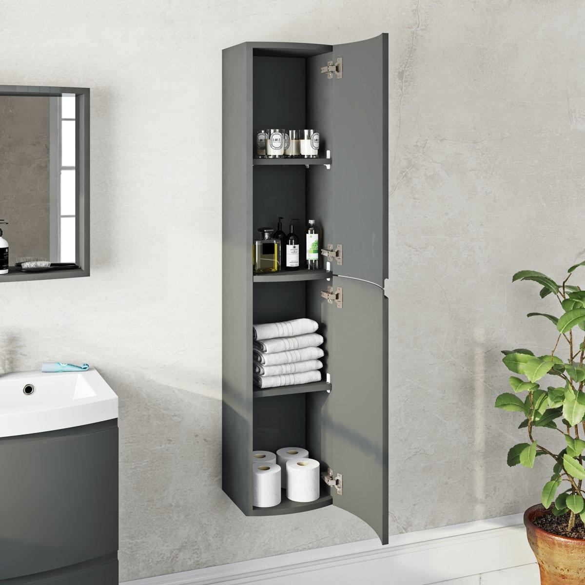 Mode Harrison slate wall hung storage cabinet   VictoriaPlum.com