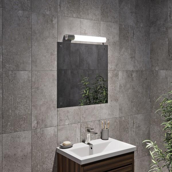 Square bevelled edge drilled mirror 60cm x 60cm