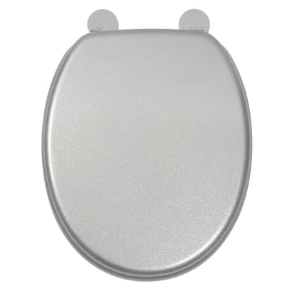 Croydex Silver quartz  flexi fix toilet seat