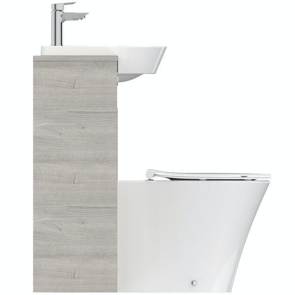 Ideal Standard Concept Air wood light grey 1200 combination unit with toilet and seat