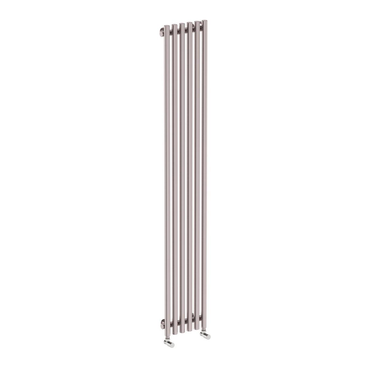 Terma Tune matt nickel single vertical radiator 1800 x 290