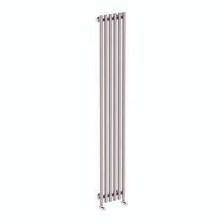 Tune matt nickel single vertical radiator 1800 x 290