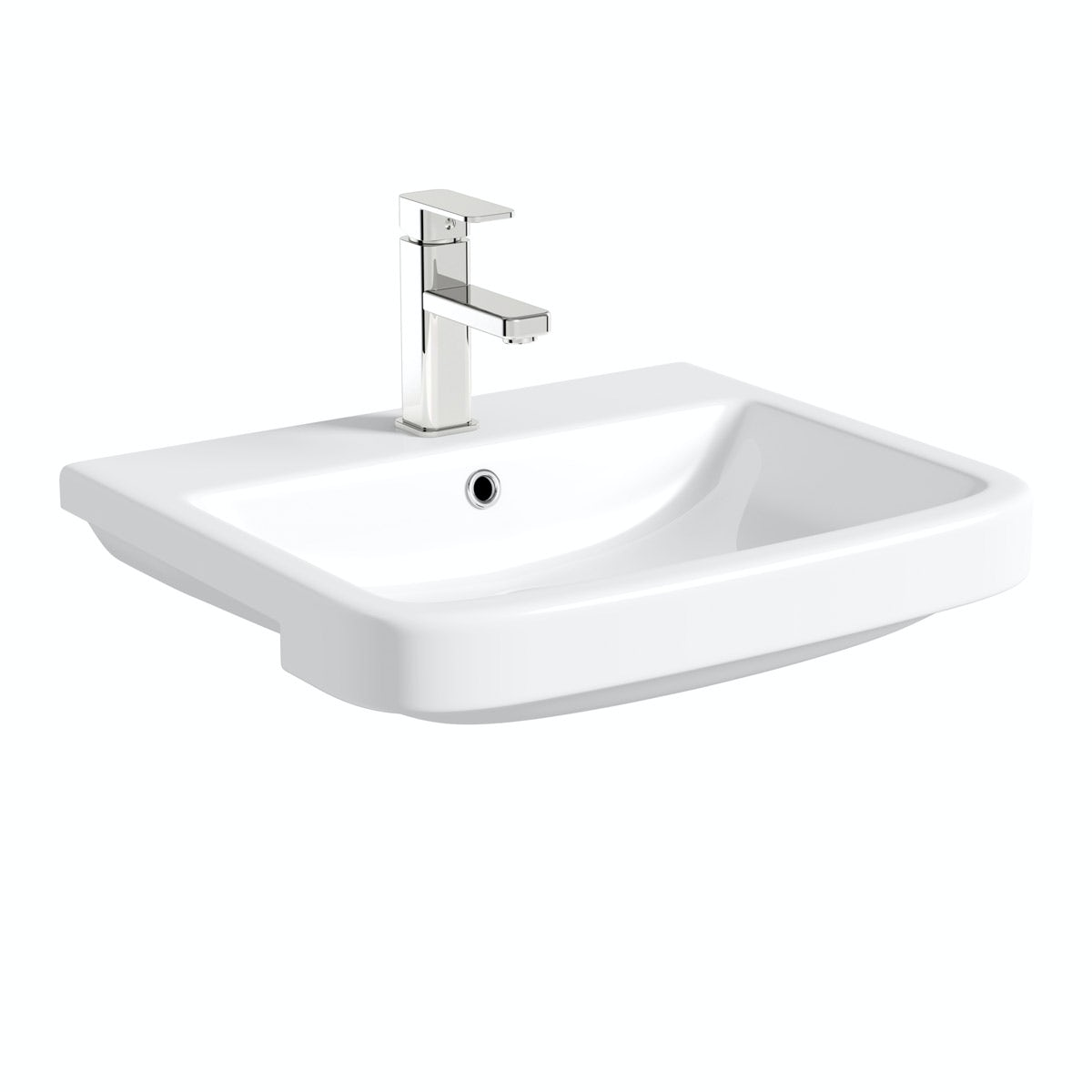 Mode Carter semi recessed basin 550mm with waste