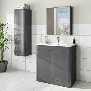 Mode carter slate furniture package with vanity unit 800mm