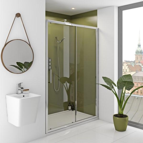 Zenolite plus earth acrylic shower wall panel 2070 x 1000