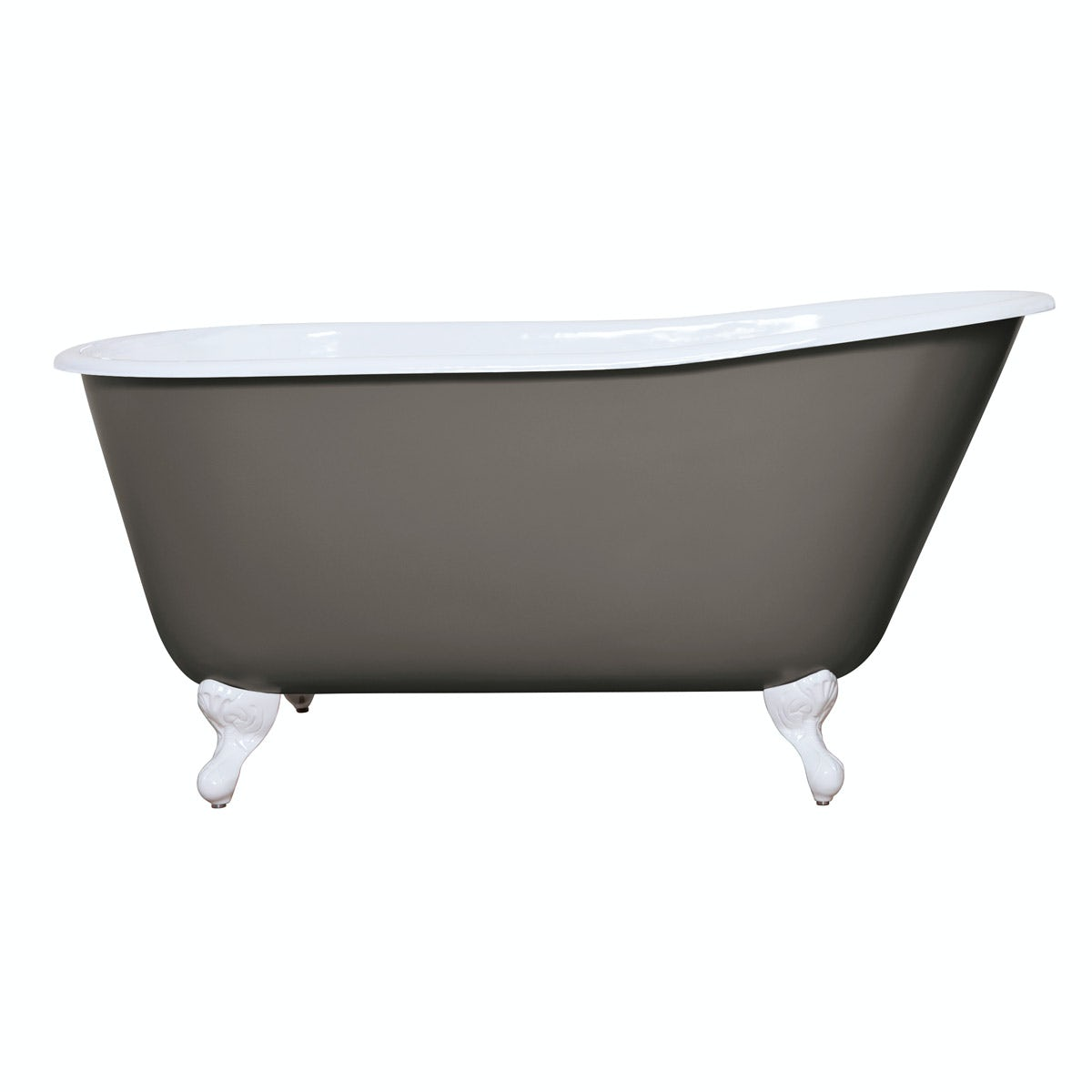 The Bath Co. Warwick keystone grey cast iron bath