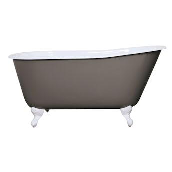The Bath Co. Warwick keystone grey cast iron bath