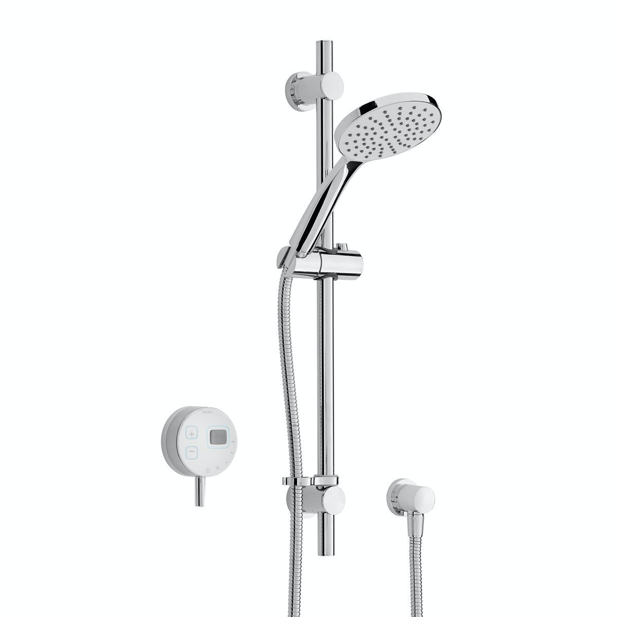 Bristan Artisan Evo digital shower with slider rail kit white