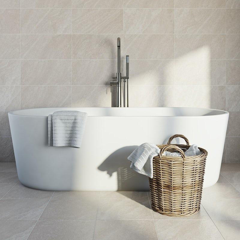British Ceramic Tile Pumice grey matt tile 248mm x 498mm