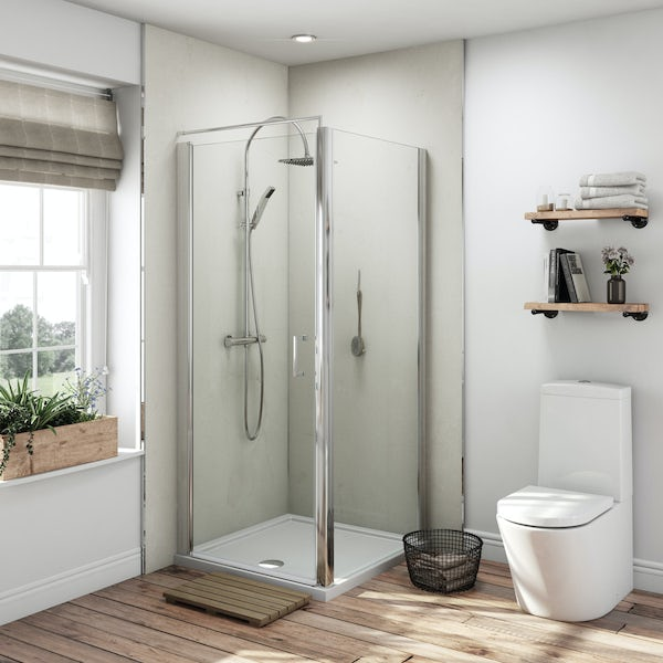 Multipanel Classic Marfil Cream unlipped shower wall panel 2400 x 1200