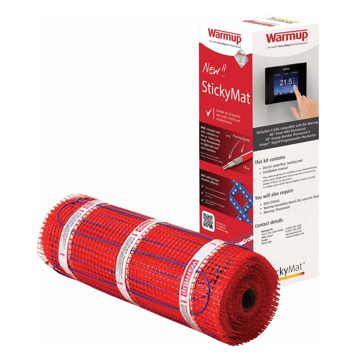 Warmup StickyMat underfloor heating mat 200w