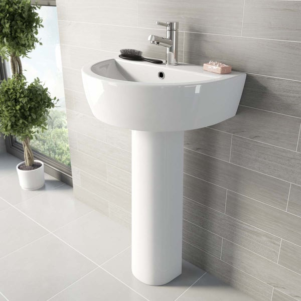 Mode Tate L-shaped left hand complete bathroom package
