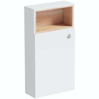 Mode Tate white & oak back to wall toilet unit
