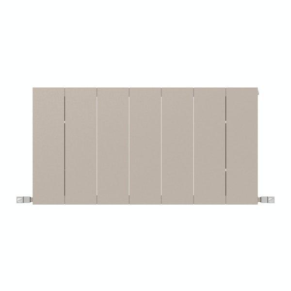 Neo oyster grey horizontal radiator 545 x 1050