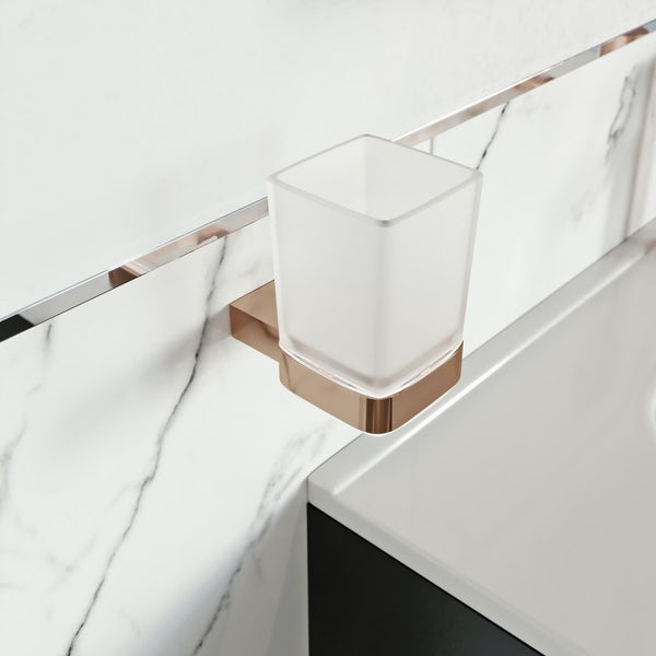 Mode Spencer rose gold tumbler and holder